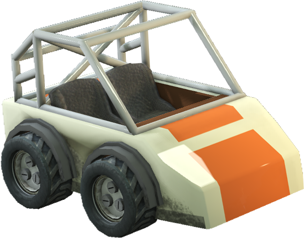 Image of the car from the video game Radio Viscera